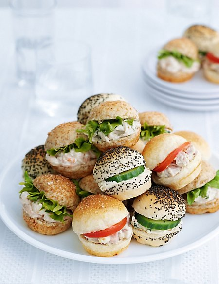 20 Bite-Size Cocktail Roll Selection