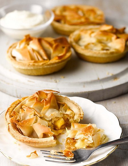 4 Apple Filo Topped Pastry Tarts