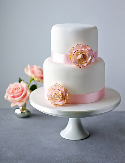 marks and spencer chocolate wedding cake floral ribbon chocolate cake m amp s 17162