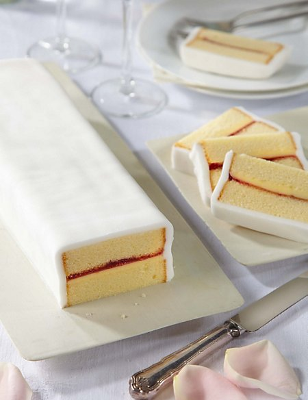 Wedding Cutting Bar Cake - Sponge with White Icing (Serves 22)