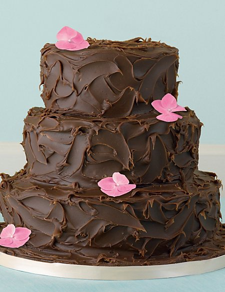 3 Tier Milk Chocolate Ganache Cake