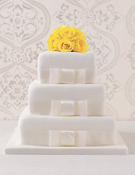 3 Tier Elegant Fruit Wedding Cake (Available to order until 31st January 2017)