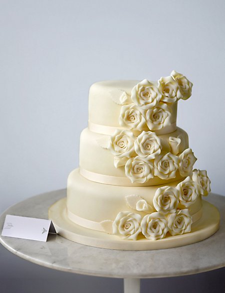 Classic Rose Assorted Wedding Cake (Available to order until 31st January 2017)