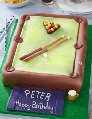 Pool Table Cake M Amp S