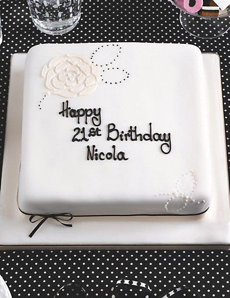 Black & White Celebration Sponge Cake