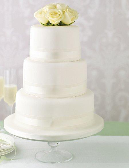 Elegant Round Assorted Wedding Cake