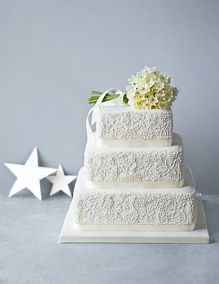 Lace Sponge Wedding Cake (Available to order until 31st January 2017)