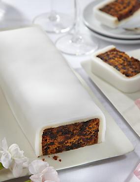 Wedding Cutting Bar Cake - Fruit with White Icing - Gluten Free (Serves 22)