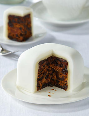 Wedding Taster Cake - Fruit Cake with White Icing - Gluten Free (Serves 4)