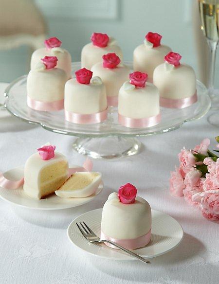 Vintage Rose Wedding Mini Cakes x 10