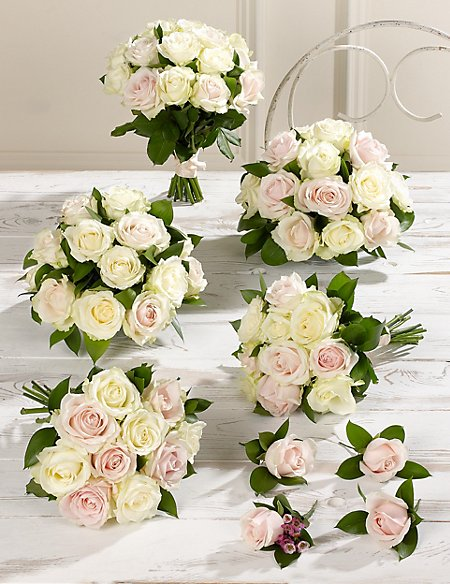 Pink & White Luxury Rose Wedding Flowers - Collection 3