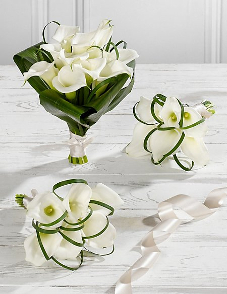 White Calla Lily Wedding Flowers Collection 1