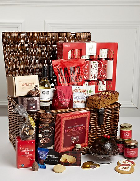 family christmas hamper with crackers m s. Black Bedroom Furniture Sets. Home Design Ideas