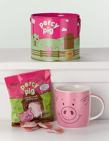 Percy Pig Mug & Paint Tin with Percy Sweets Hamper