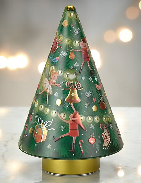 Shortbread Musical Tree Tin - Shortbread Musical Tree Tin M&S