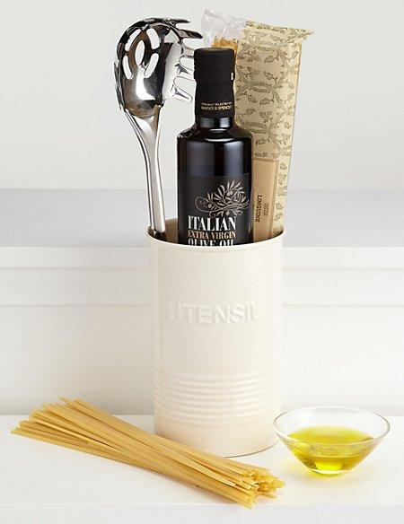 Italian Utensil Tin - Cream