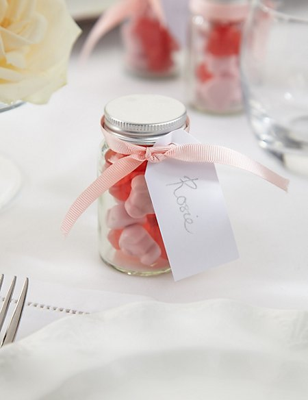 Create Your Own Percy Piglets™ Wedding Favours with Pink Ribbons - Pack of 25