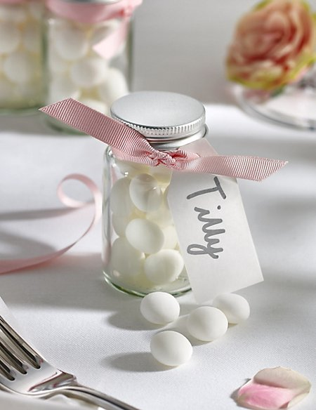Mint Imperials Wedding Favours with Pink Ribbon - Pack of 25
