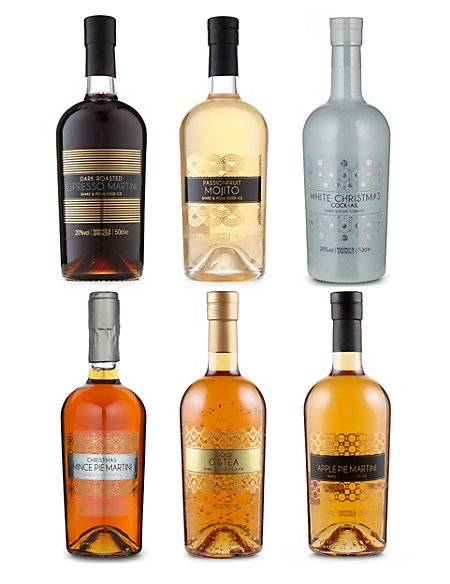 Ready Mixed Cocktail Selection - Case of 6