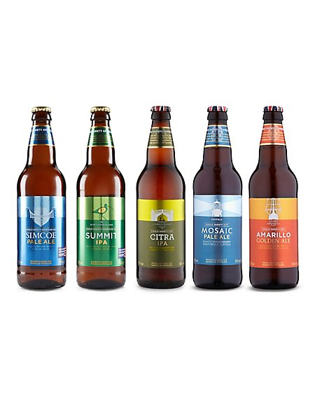 British Beers Made from American Single Hops - Case of 20