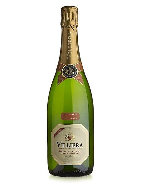 Villiera Brut Natural Chardonnay - Case of 6