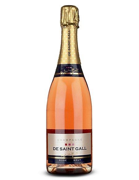 De Saint Gall Rosé Brut Champagne - Case of 6