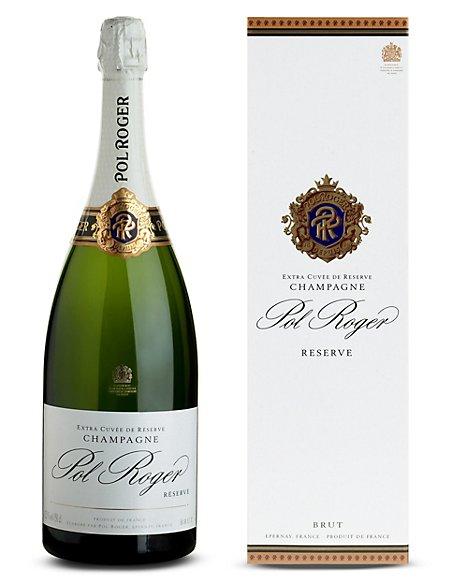 Pol Roger Brut Reserve NV Magnum Champagne - Single Bottle
