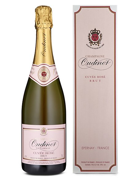 Oudinot Rosé Pink Champagne - Single Bottle