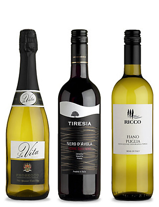 Italian Wines for Entertaining at Home - Mixed Case of 6 Wine