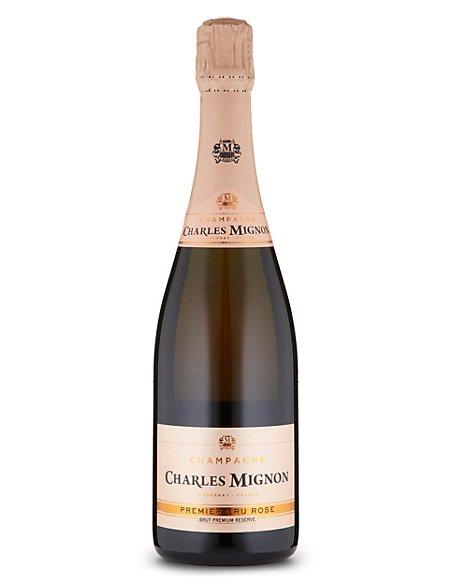 Charles Mignon Brut Rosé Premier Cru Premium Réserve Champagne - Case of 6