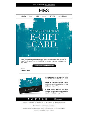 Happy Birthday Text E Gift Card