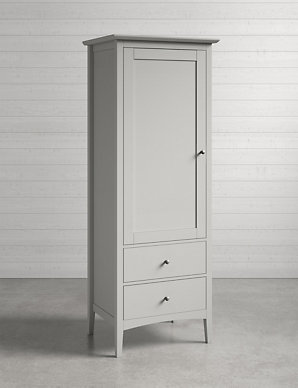 Awe Inspiring Hastings Grey Single Wardrobe Home Interior And Landscaping Oversignezvosmurscom