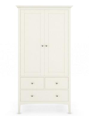 Hastings Ivory Double Wardrobe