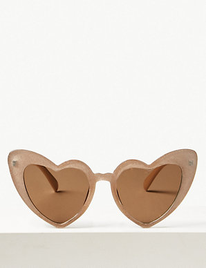 35a80308c1 Heart Aviator Sunglasses