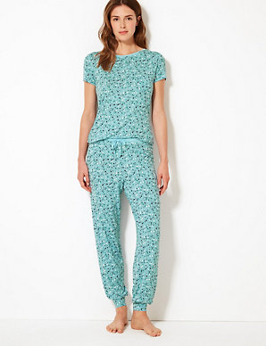 6e8fa82d03bdd Heart Print Short Sleeve Pyjama Set | M&S