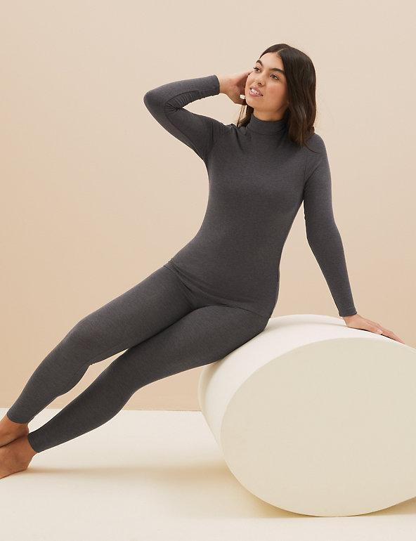 M/&S Ladies Thermal Pointelle Warm BRUSHED INSIDE Long Leggings