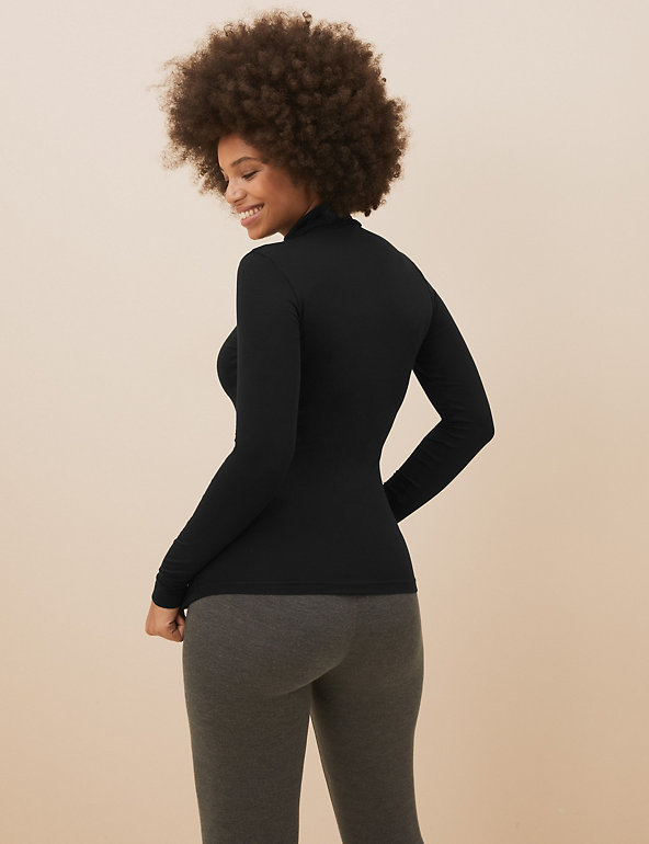 M/&S Thermal Heatgen Plus Polo Neck Top Supersoft Base Layer UK6 EU34 RRP£18