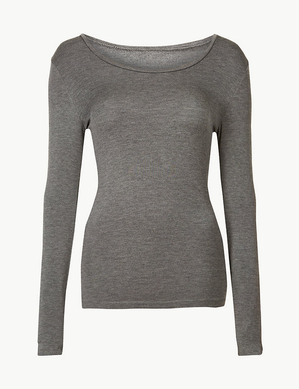 Ladies Ex M/&S Heatgen Thermal Long Sleeve Top Sizes 8-28