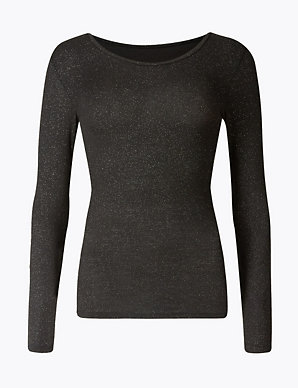 a401bb03 Heatgen™ Sparkle Thermal Long Sleeve Top | M&S Collection | M&S