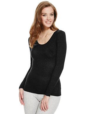 39908db1f082 Heatgen™ Sparkle Thermal Top | M&S Collection | M&S