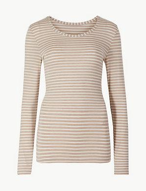 c92a9a4dbf7 Heatgen™ Thermal Long Sleeve Striped Top