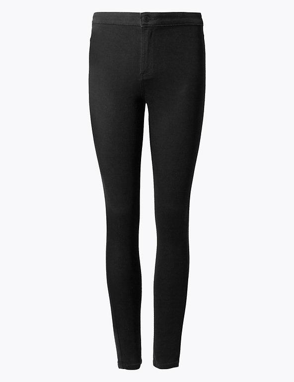 M/&S COLLECTION  High Waist Super Skinny Jeans ~ Dark Grey