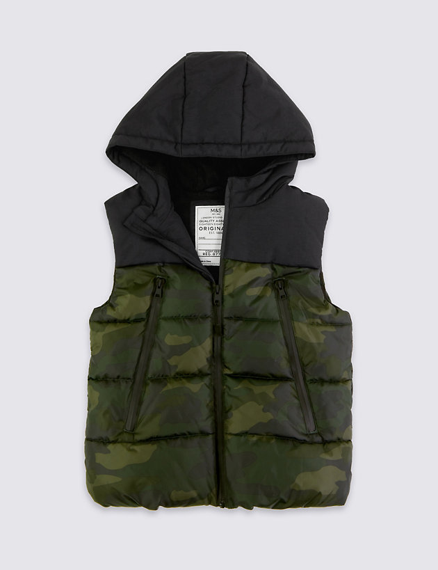 Hooded Camouflage Gilet (3-16 Years)