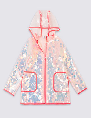 1385bb437 Hooded Sequin Raincoat (3-16 Years) | M&S