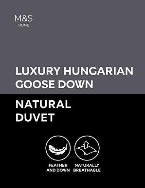 83f1256a61c6 Hungarian Goose Down 4.5 Tog Duvet | M&S