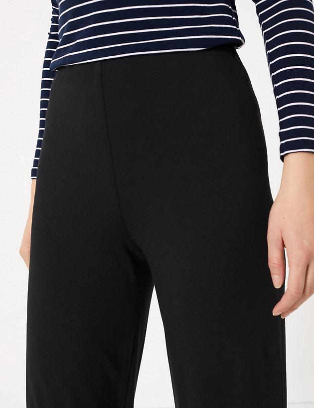 NEW EX M/&S LADIES SIZE 12 16 20 WHITE MODERN SLIM LEG COTTON STRETCH TROUSERS