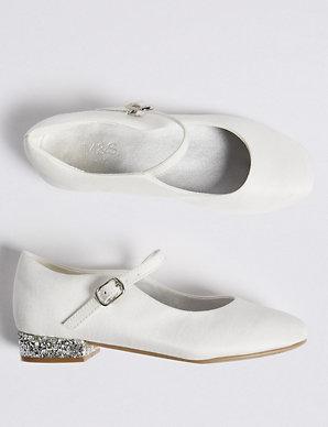 59840f6ab17b Kids' Bridesmaid Glitter Shoes (9 Small - 6 Large) | M&S