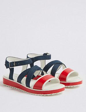 298e75fd87438 Kids' Colour Block Sandals (13 Small - 6 Large) | M&S