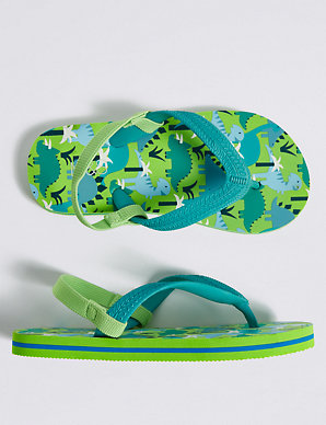 best value attractive price new style Kids' Dinosaur Print Flip-flops (5 Small - 12 Small)