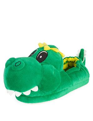 54f972bea2e5 Kids  Dinosaur Slippers